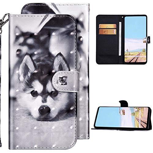 Kompatibel mit Xiaomi Redmi Note 9S Hülle,Redmi Note 9 Pro/9 Pro Max Hülle Ledertasche Brieftasche Schutzhülle Flip Case,3D Bunt Bemalt Muster PU Leder Klapphülle Tasche Handyhülle,Heiser