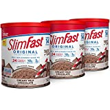SlimFast Original Creamy Milk Chocolate Meal Replacement Shake Mix - Weight Loss Powder - 12.83 Oz. - 14 Servings (Pack of 3) - Pantry Friendly