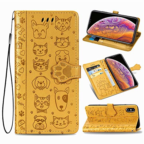 Oihxse Billetera Cuero Funda Compatible con Samsung Galaxy M80s/A91 PU Libro Tapa...
