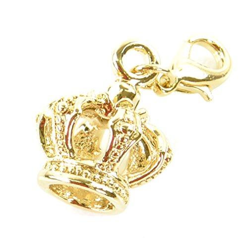チャームパーツ ゴールドカラー p-charm-121-12-クラウン/マスクチャーム オリジナル キラキラ モチーフ 飾り