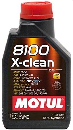 MOTUL59 FLACONE 1 LITRO OLIO MOTUL 8100 X-CLEAN 5W40 100% SINTENTICO PER MOTORI 4T