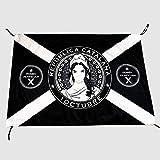 Q&J Bandera Repubblica Catalana Negra 1 de Octubre - Medidas 70 x 100 cm. - Polyester 100% - para Exterior e Interior