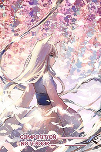 Anime Fox Girl Under Sakura Tree Notebook: (110 Pages, Lined, 6 x 9)