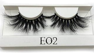 SALLM 25mm Long 3D lashes E01 extra length eyelashes Big dramatic volumn eyelashes strip thick false eyelash,E02 white tray