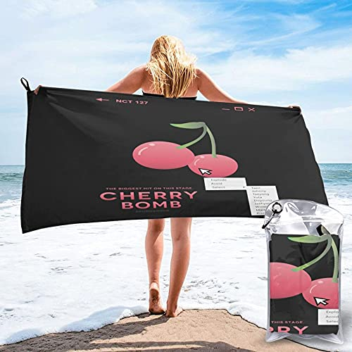 Toalla de Secado rápido Cherry Bomb Select! Beach Towel Blanket KPOP Quick Dry Lightweight Thin Towel Travel Swimming Bath Camping Yoga Gym Sports Towel 31.5'X63'
