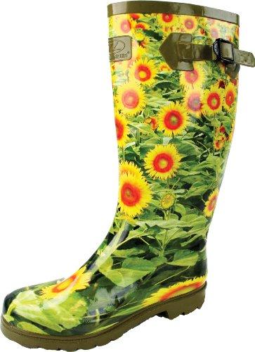 Botas de Agua de flores amarillas para mujer