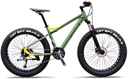 27-Gang-Mountainbikes, Profi 26 Zoll Adult Fat Tire Hardtail Mountainbike, Alurahmen Vorderachsfederung Geländefahrrad