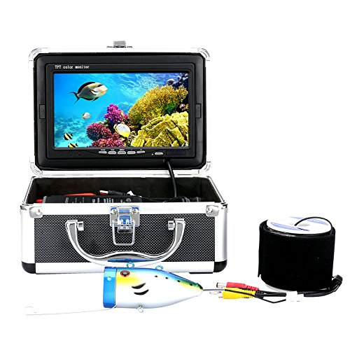 "GAMWATER 7"" Inch 1000tvl Underwater Fishing Video Camera Kit 12 PCS LED Infrared Lamp Lights Video Fish Finder Lake Under Water Fish cam"