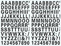 (シャシャン)XIAXIN 防水 PVC製 アルファベット ナンバー ステッカー セット 耐候 耐水 ローマ字 数字 キャラクター 表札 スーツケース ネームプレート ロッカー 屋内外 兼用 TS-539 (2点, ブラック)