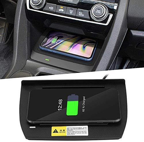 Cargador de coche inalámbrico 15W Qi Cargador de teléfono Carga rápida Accesorios de coche Compatibilidad con Hon-da Ci-vic 10th 2016-2020