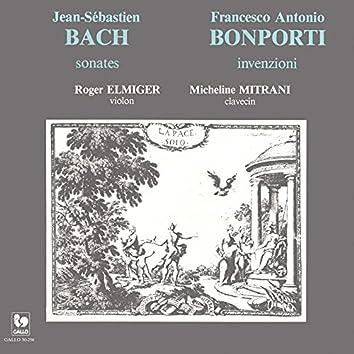 Bach Violin Sonata BWV 1021 & BWV 1023 - Bonporti: Invention in G Minor, Op. 10, No. 4 & Invention in E Minor, Op. 10, No. 8