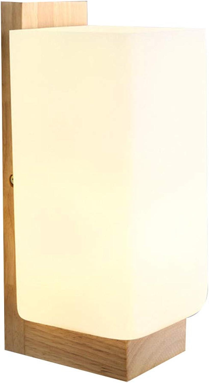 OSALADI Einfache Wandleuchte E27 220V Holzwandleuchte für Schlafzimmer Wohnzimmer Loft Bar ohne Glühlampe