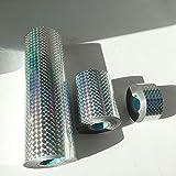 1 Unids/lote Color Plata Holográfico Láser Estampado En Caliente Papel de Aluminio Hoja de Transferencia de Corazón Papel Diy Paquete Caja, 3 cm