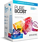 Pureboost Clean Energy Drink Mix + Immune System Support. Sugar-Free Energy with B12, Multivitamins, Antioxidants, Electrolytes (Combo Pack, 30 Stick Packs)