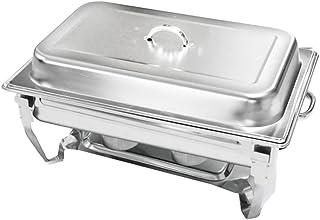 チェーフィングディッシュ 保温器 7.2L 湯煎 ウォーマー 角型 シングル フタ付き