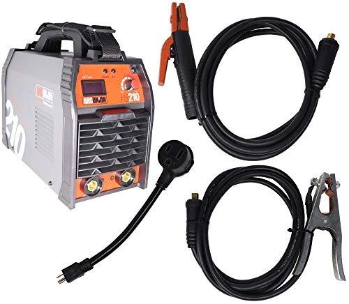 Arc Union DC 210 amp Professional Dual Voltage Input IGBT Stick Welder Package 115v 230v