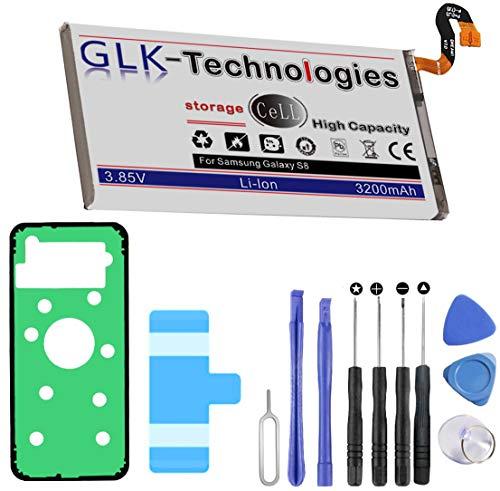 Neuer Preis 2021 High Power Ersatzakku für Samsung Galaxy S8 SM-G950F | Original GLK-Technologies Battery | Accu | 3200 mAh | inklusive Werkzeugset