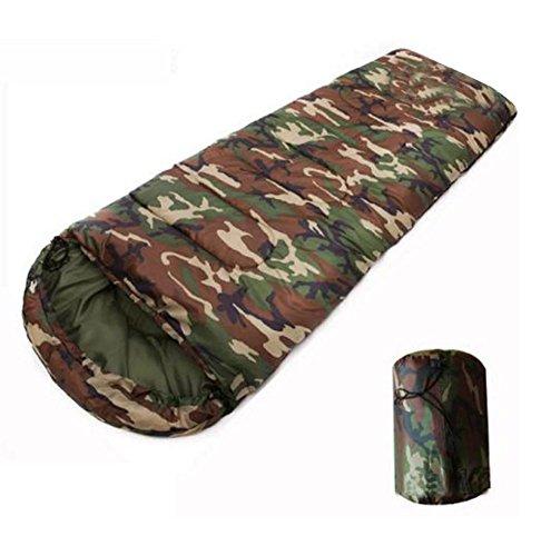 Busta camuffamento sacchetto di cotone a pelo caldo per il campeggio all'aperto per adulti (190 + 30) * 75cm