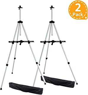 Ohuhu Artist Easel, Aluminum Field Easel Stand with Bag for Table-Top/Floor, 2-Pack Art Easels with Adjustable Height from 21-Inch to 66-Inch