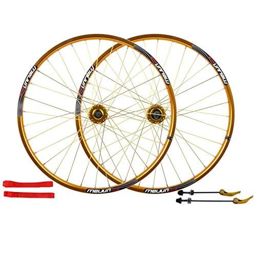 TYXTYX Assali a sgancio rapido Accessorio per Bicicletta Cerchi in Lega Anteriore e Posteriore per Bicicletta da 26 Pollici Set Ruote MTB Freno a Disco Sgancio rapido 7,8,9,10 velocità Bicicletta d