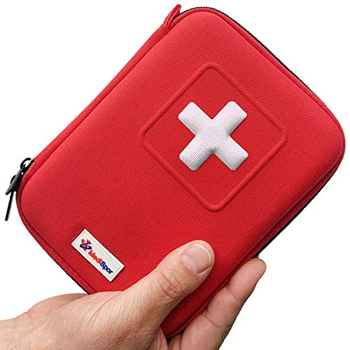 Botiquín de Primeros Auxilios de 100 piezas - Bolsa Médica de Emergencia Completa con 35 Artículos únicos para Coche el Hogar y Viaje - Incluye Bolsa de Hielo Instantánea, Torniquete, Mascarilla CPR