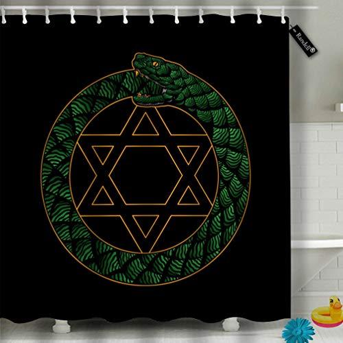 Decor Duschvorhang-Set Home Family Badezimmer Zubehör Gardinen mit individuellem Muster 72