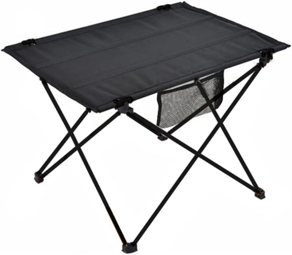 Mesa Plegable portátil al Aire Libre Camping Home Barbacoa Picnic Ultra luz Aleación de Aluminio Mesa de Viaje (Color : Gray)