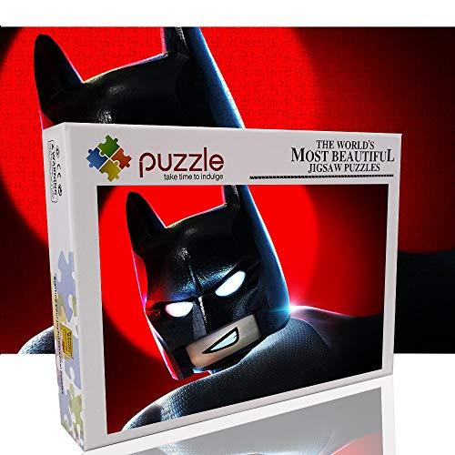 Rompecabezas de Batman para Adultos, 1000 Piezas, Juguete de Lego, Rompecabezas de Juguete Educativo, Juego para Padres e Hijos, 1000 Piezas, Rompecabezas de 70x50 cm