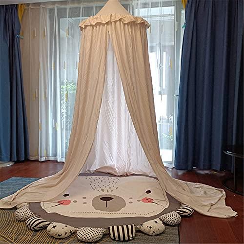 JIAJBG Decoración Canopy For Kids Cama, Niños Cúpula Mosquitera, Tienda de Tienda Tienda Tienda Costura para Niñas Decoración de la Sala Princesa Castillo, Decoraciones de la Sala