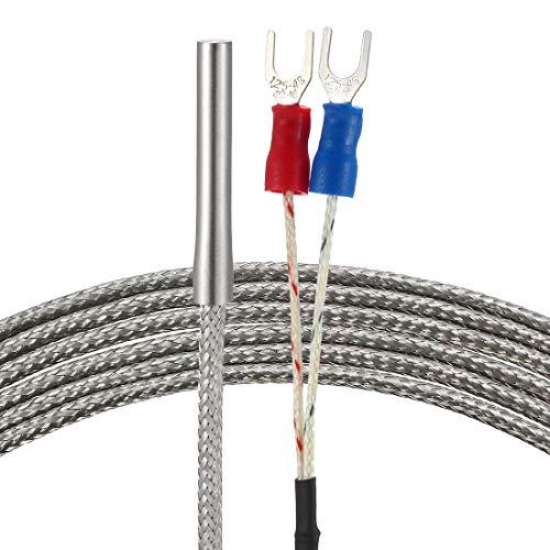sourcing map Temperaturfühler Typ K 3 Meter Kabel 4mmx30mm Thermoelement