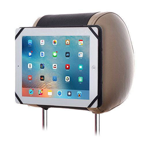 TFY 9-Inch to 10.1-Inch Tablet PC Car Headrest Mount, Fast-Attach Fast-Release Edition, for iPad Pro 9.7' and Other 9-10.1 inch Tablet PCs, Black