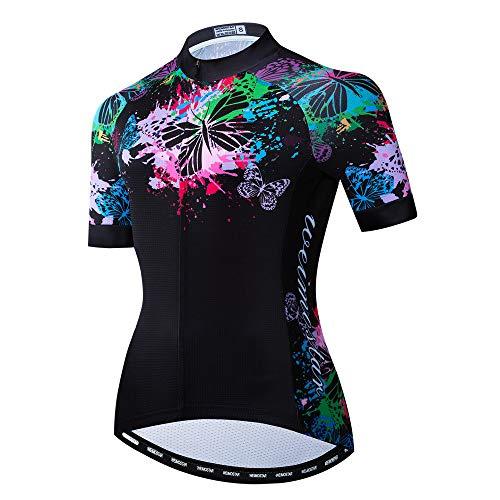 Weimostar Sommer Radtrikot Frauen, Mountainbike Shirts Reiten Fahrrad Uniformen Quick Dry MTB Trikots