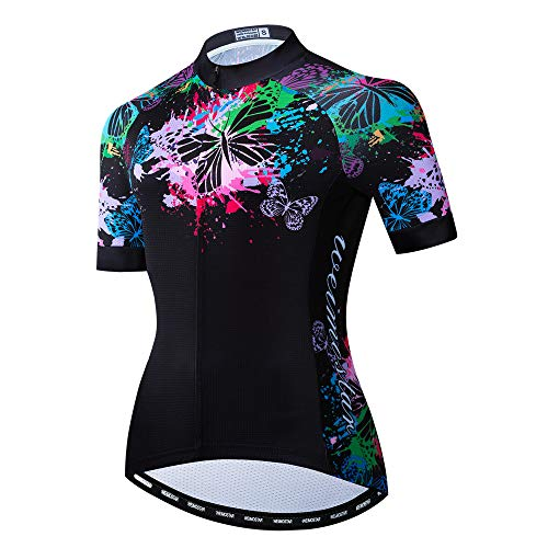 Summer Short Sleeve Cycling Jersey Women, Mountain Bike Clothing Riding Bicycle Shirts Quick Dry MTB Jerseys