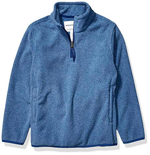 Amazon Essentials Quarter-zip Polar Fleece Jacket fleecejacke, Blau (Blue Heather), Medium (Herstellergröße:):)