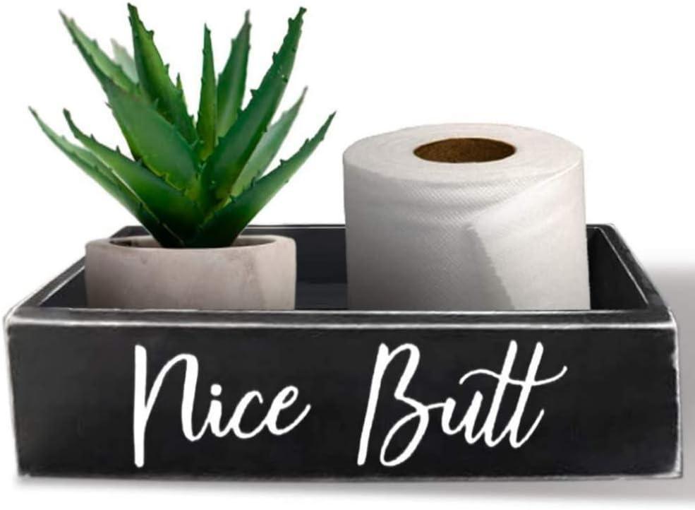 Double Sided Nice Butt Bathroom Decor Box with FREE Sign | Nice Butt Bathroom Decor | Hello Sweet Cheeks | Restroom Decor | Bathroom Signs Decor Funny | Funny Bathroom Decor | Bathroom Box |