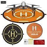 STARTRC Drone Landing Pad, RC Hélicoptère Piste Pliable d'atterrissage pour DJI Inspire 2/1/Phantom 4 RTK/Matrice 200/300 RTK/600 Pro(110CM)