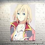 KWzEQ Nordische Hauptdekoration Leinwand Schloss Anime Manga Wandbild Kunstdruck Poster Wohnzimmer,Rahmenlose Malerei,30X45cm