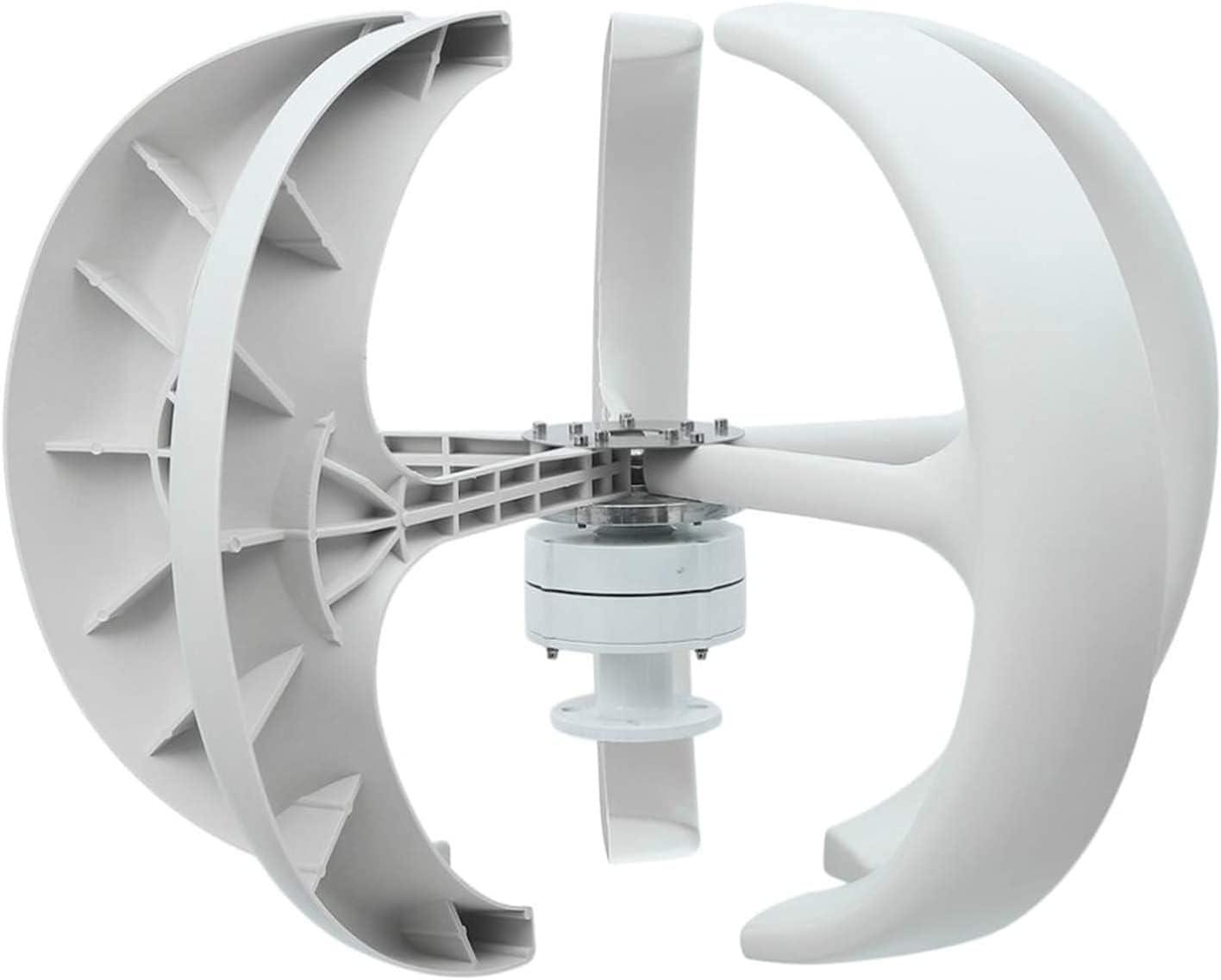 FCPLLTR 300 W tipo linterna 5 ejes verticales aerogeneradores, 12 V generador de energía turbina de viento para exterior y jardín (tamaño: 24 V)