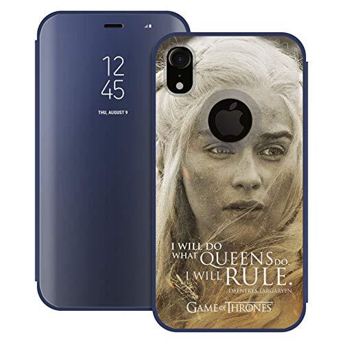 Head Case Designs Offizielle HBO Game of Thrones Daenerys Targaryen Character Portraits Blaue Spiegel Huelle mit Klappstand kompatibel mit Apple iPhone XR
