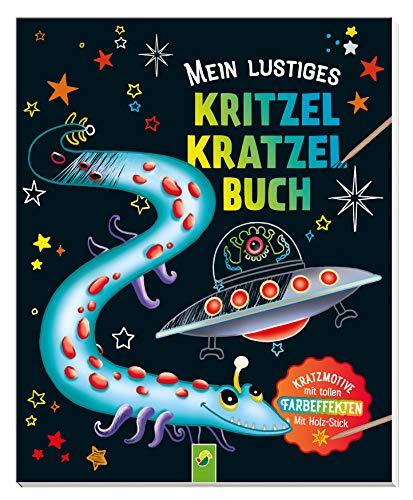 Mein lustiges Kritzel-Kratzel-Buch: Kratzmotive mit tollen Farbeffekten - Mit Bambus-Stick