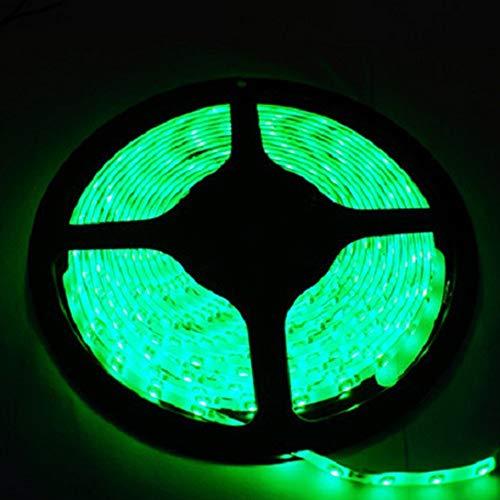 KEIT De Colores LED Franja de Gaza, llevada 5M 300 2835 SMD Impermeable LED Franja for el Dormitorio, salón, Dormitorio, televisión, Cocina, Escritorio Equipo (Color : Green)