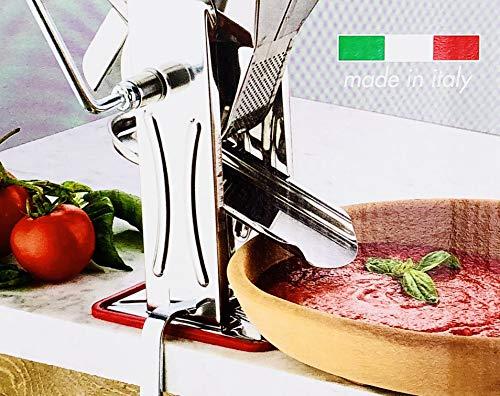 Tomatenpresse, große Größe, für Püree. Hergestellt in Italien.