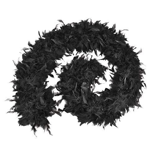 Bristol Novelty - Boa de plumas de precio económico para disfraz (Tamaño Único) (Negro)