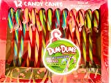 Dum dums candy canes (1) 5.3oz Box 12 individual wrapped pieces. Blu Raspberry, Cherry, Watermelon. Holidays Candy