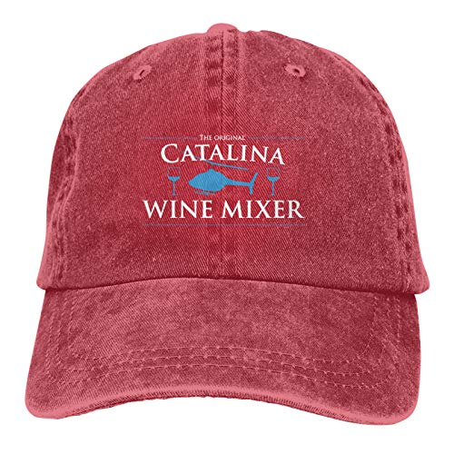 RIVNGJDE Catalina Wine Mixer Denim Hat Adjustable Washed Cotton Retro Dad Baseball Caps Unisex Trucker hat
