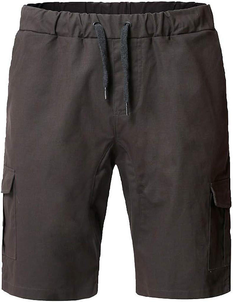 MODOQO Cargo Shorts for Men,Summer Beach Loose Casual Sweatpants Drawstring Shorts