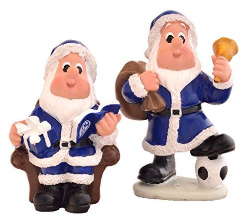 Schalke 04 Weihnachtsmänner 2er Set Weihnachtsmann Deko