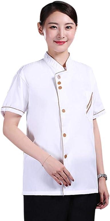 Freahap - Camisa Camiseta de Cocinero Cocina Uniforme Manga Larga Chaqueta de Chef Camarero para Hombres y Mujeres para Restaurante Hotel