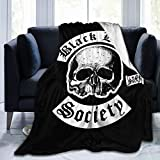Lightweight Black Label Society Throw Blanket Cozy Bed Blanket Fit Couch Sofa 60'X50'