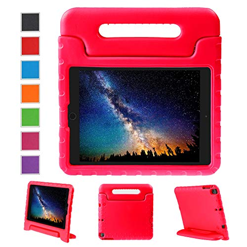 NEWSTYLE Apple iPad Air 2 Case Shockproof Case Light Weight Kids Case Super Protection Cover Handle Stand Case for Kids Children For Apple iPad Air 2 (2014 Released) - Red Color